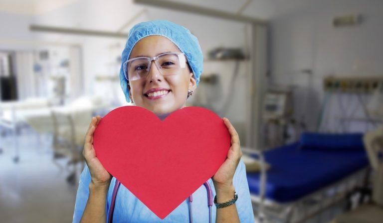 Nurse with a heart